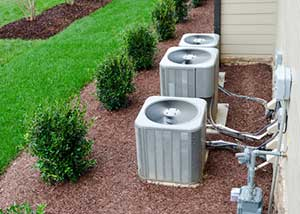 Air conditioning units free of debris