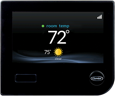 The Infinity Touch Control smart thermostat by Carrier