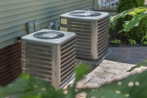 outdoor air conditioning unit that was installed during a recent AC repair conducted by a Gaithersburg, MD HVAC technician