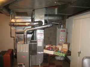 basement furnace installation