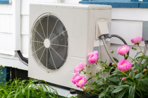 air conditioning, heat pump unit outside of a home