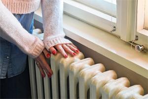 Hands on radiator