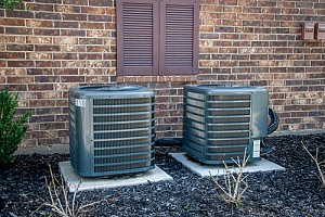 AC units behind building