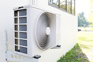 Air Conditioner wall unit mounted outside