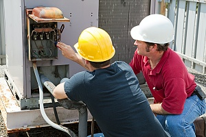 HVAC unit being replaced in order to cut costs to homeowners