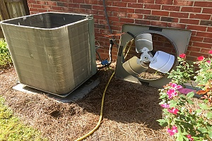 broken HVAC unit that need to be replaced